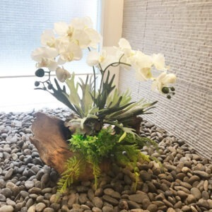 BRM0002 / Orchids decorated with timber