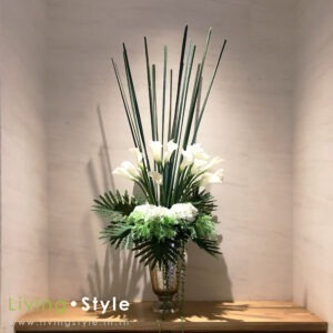 VFL0029 / Calla flowers in smoked glass Vases