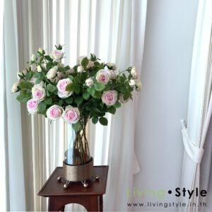 VFM0032 / English Rose in Golden glass Vase