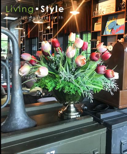 ดอกไม้ตกแต่งร้านอาหาร 6